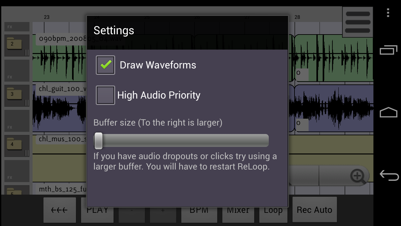 ReLoop Loop DAW - screenshot