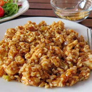 Smoky Skillet Chicken and Rice #McSkilletSauce #SundaySupper.