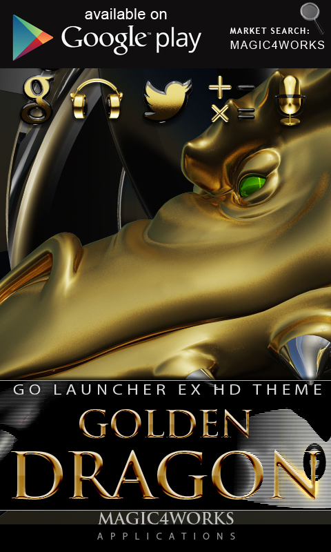 3D gold dragon GO Locker - screenshot
