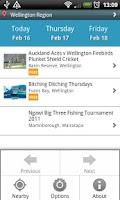 Screenshot of NZ Events