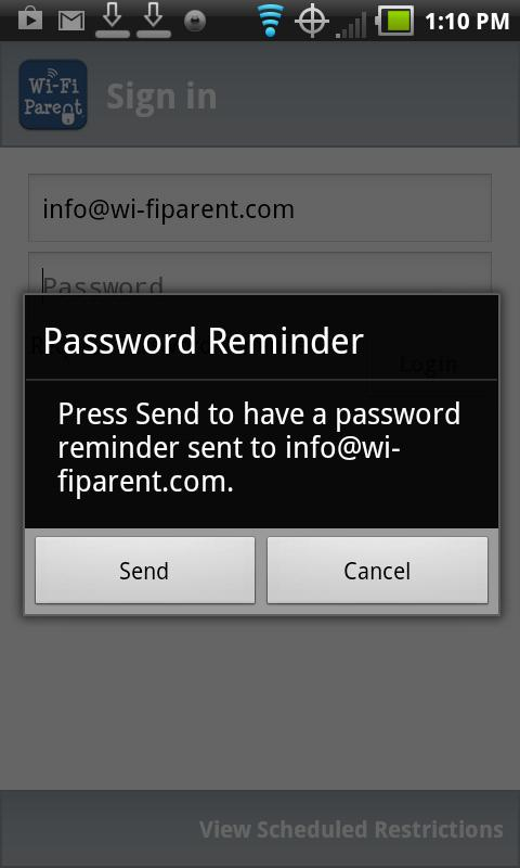 Wi-Fi Parent- screenshot