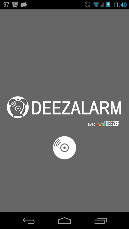 Deezalarm :Alarm with Deezer - screenshot