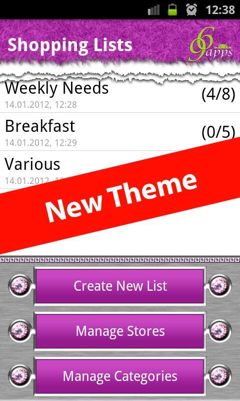 Grocery & Shopping List - screenshot