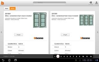 Screenshot of BTicino Catalogo