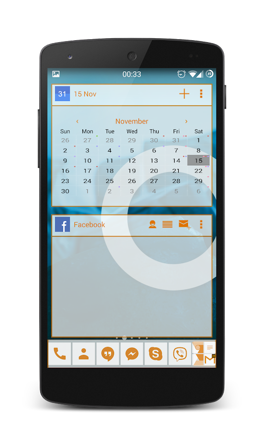 APW Theme 192C XDA Orange- screenshot