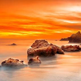 Freezing the moment by Jay R Vismanos - Landscapes Beaches ( wishyouwerehere, california, sunset, mymexico,  )