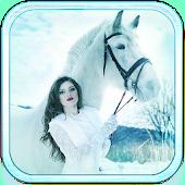 White Horse live wallpaper