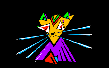 Psychedelic Triangular Cat