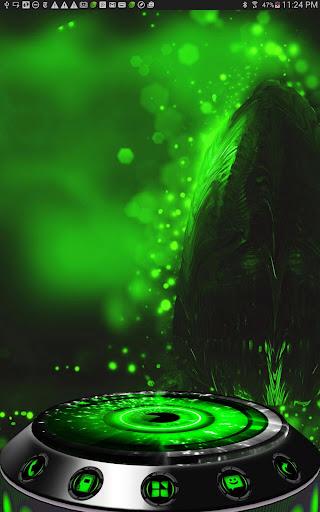Next Launcher Theme Alien Grn