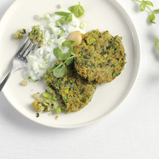 South Indian Lentil Cakes with Raita