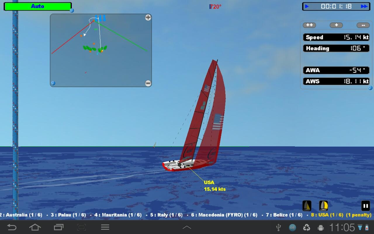 cWind Sailing Simulator - screenshot