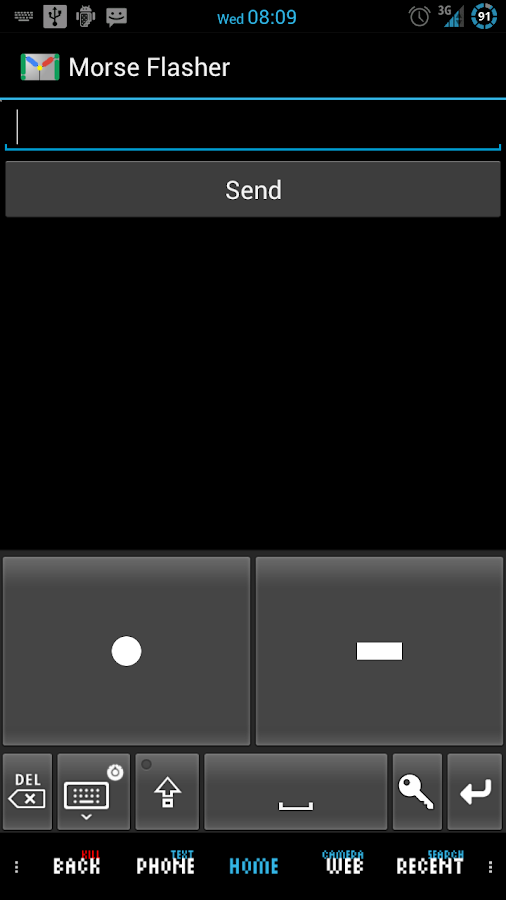 Mail Tap - Morse Code Keyboard - screenshot