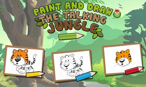 Paint Draw Talking Jungle