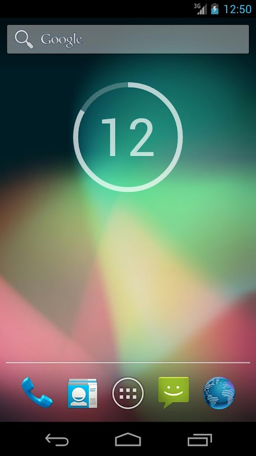 onca Clock Widget - screenshot