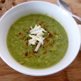 Broccoli-Kale White Cheddar Soup