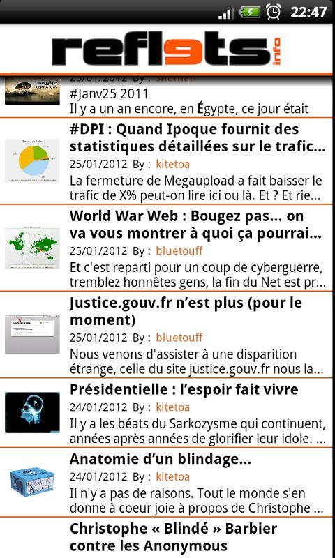 Reflets.info- screenshot