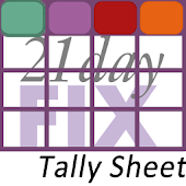 21 Day Fix Tally Sheet