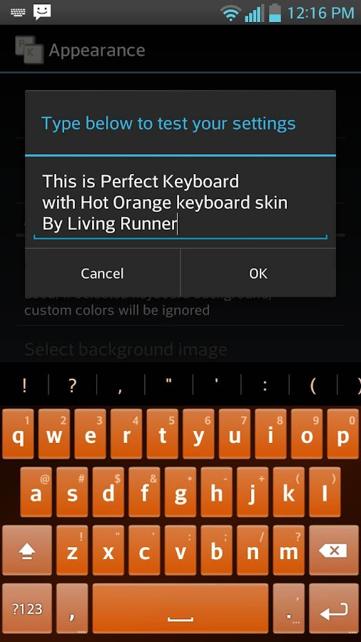 Hot Orange Keyboard Skin - screenshot