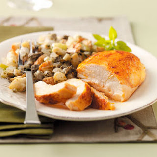 Roast Chicken with Oyster Stuffing Recipe