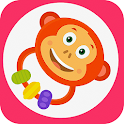 Rattle toy for babies icon