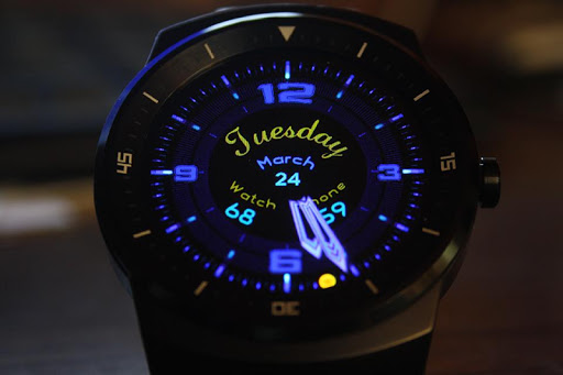 【免費個人化App】Darkle BlueSnake Watch Face-APP點子