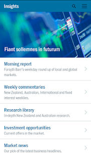 Forsyth Barr Investments App- screenshot thumbnail