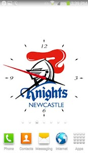 Newcastle Nights Analog Clock- screenshot thumbnail