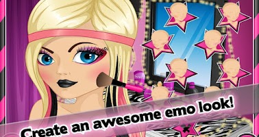 Screenshot of Nerdy to Emo Makeover Spa