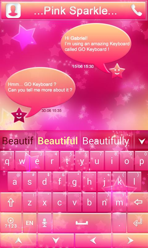 Pink-Sparkle-GO-Keyboard-Theme 8
