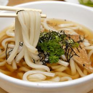 Udon Noodles in Shiitake-Ginger Broth.
