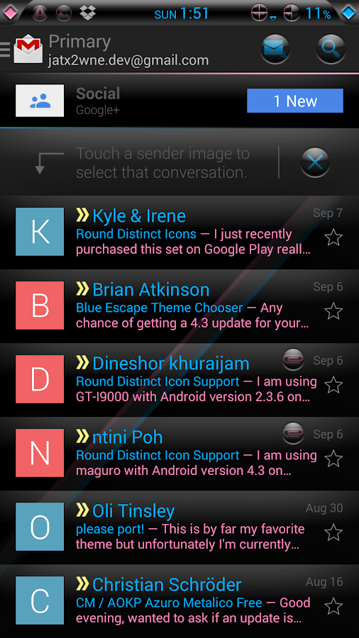 Blink CM AOKP theme- screenshot