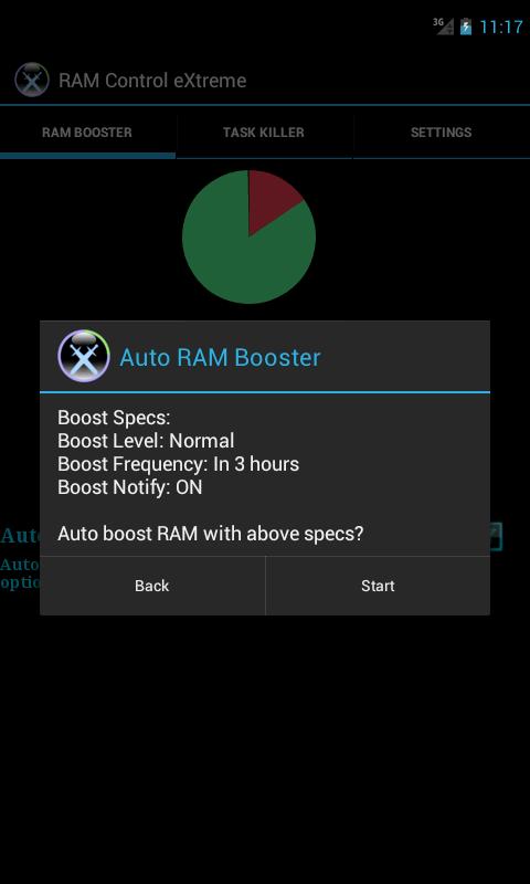 RAM Control eXtreme Lite- screenshot