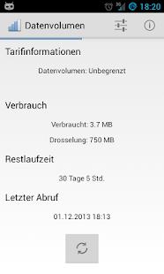 Telekom Verbrauchsanzeige - screenshot thumbnail