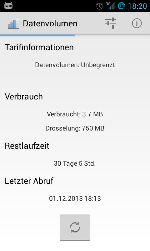 Telekom Verbrauchsanzeige - screenshot