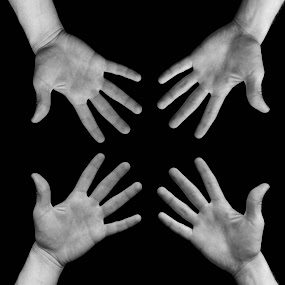 Shapes of the Human Body by Jordin Pierce - Black & White Abstract ( abstract, hands, black and white, still life, art, human body )