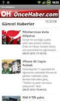 Screenshot of ÖnceHaber