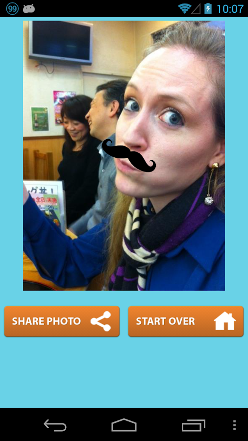 Mustache Booth- screenshot