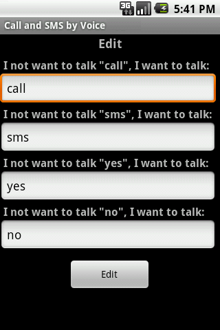 Call & SMS by Voice LITE - screenshot