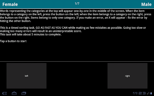 Implicit Association Test- screenshot thumbnail