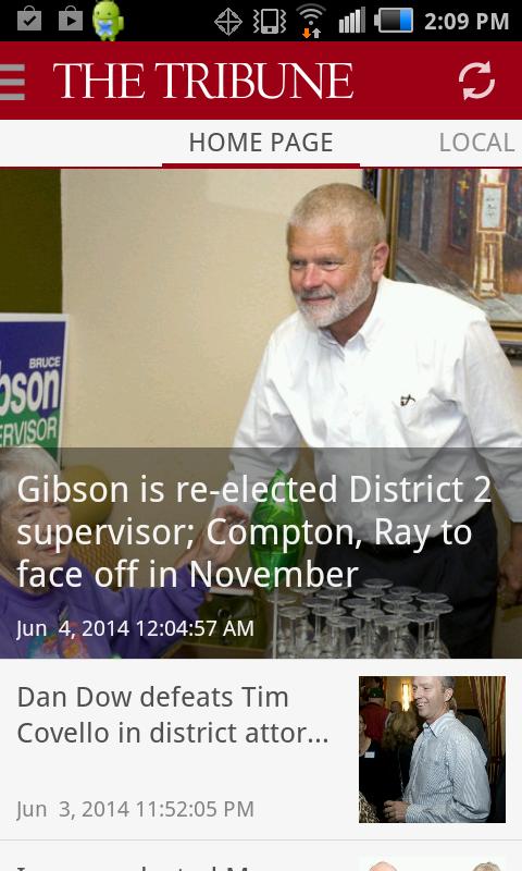San Luis Obispo Tribune news - screenshot