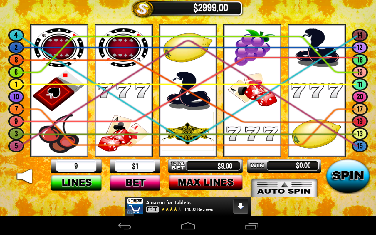Death Snake Slots Line 20 Free - screenshot