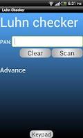 Screenshot of Luhn Checker