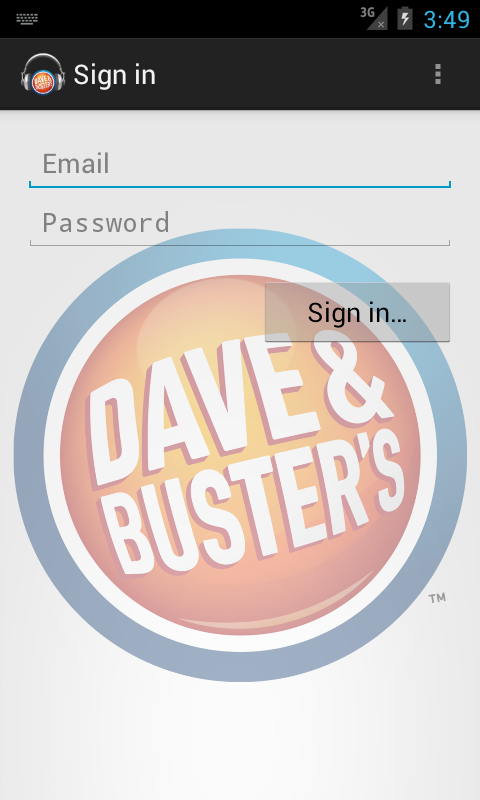 Dave & Busters Mobile Media - screenshot