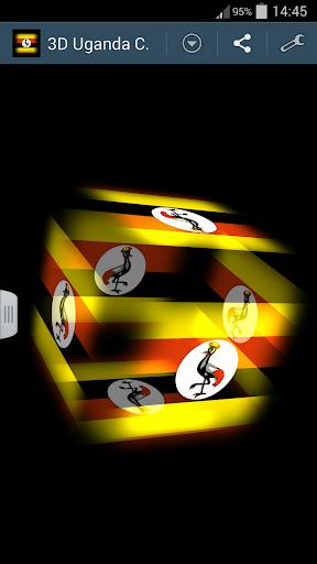 3D Uganda Cube Flag LWP