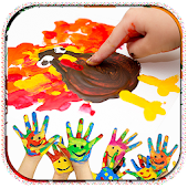 Kids Finger Paint Drawing