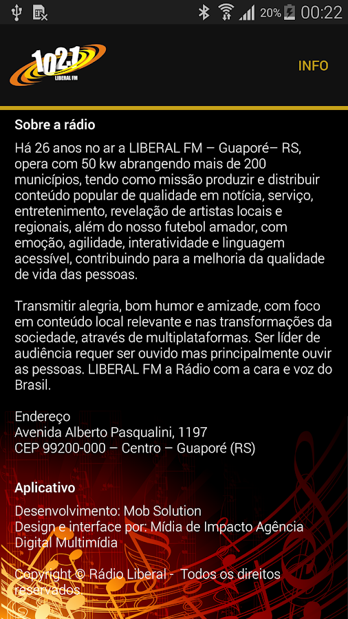Rádio Liberal FM 102.1- screenshot