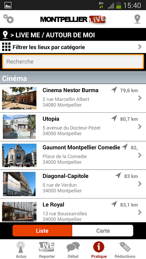 Montpellier Live - screenshot