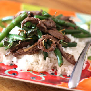 Thai Steak and Green Bean Stir Fry.
