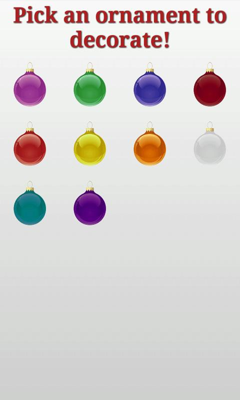 Christmas Ornaments and Tree- screenshot