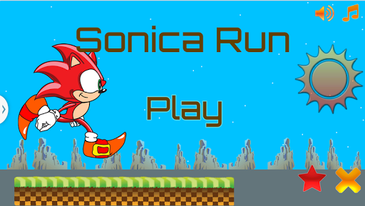 Super Runner Sonica Fun Game